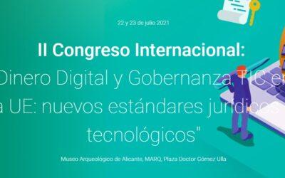 Vicente García Gil participa en II Congreso Internacional «Dinero digital y gobernanza TIC en la UE: nuevos estándares jurídicos y tecnológicos»
